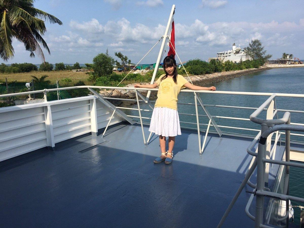 フェリーでインドネシアのビンタン島へ。  #与田祐希 #与田ちゃん #日向の温度 #シンガポール  #フェリ...