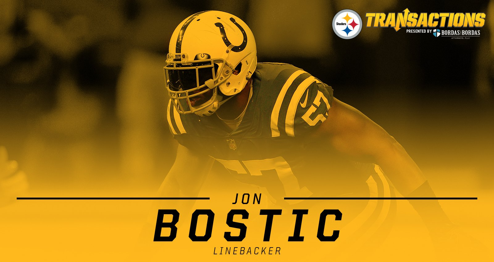 We have agreed to terms with LB Jon Bostic.  MORE: https://t.co/1Zfjo6Rlt6 https://t.co/b0bW5DoCbS
