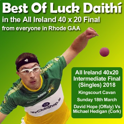 test Twitter Media - The Very best of luck today Daithi 💚💛 https://t.co/KarZFk2QT5