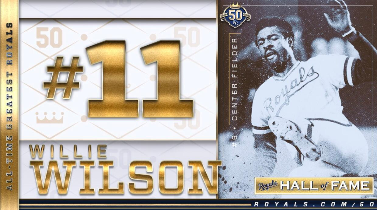 Willie Wilson is now a member of our #Royals50 All-Time Team. https://t.co/9zMl38C3oM https://t.co/jOuSpX4dt7