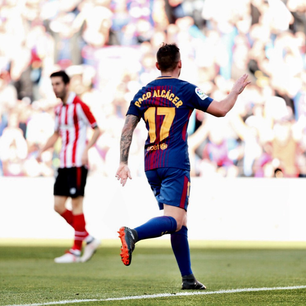 �� @paco93alcacer  ⚽️ #BarçaAthletic ���� https://t.co/X339fPalG3