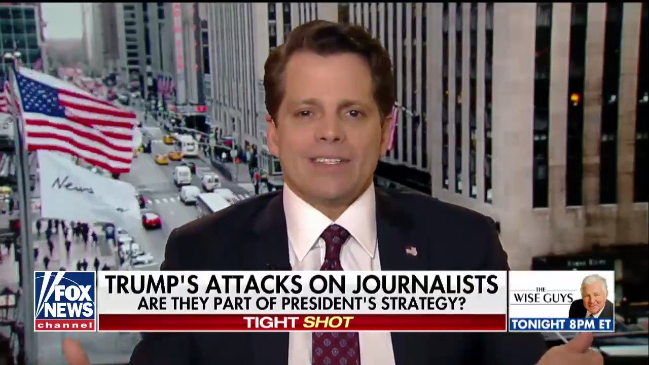 .@Scaramucci: 'If [@realDonaldTrump] didn't fight back at it, he wouldn't have won the presidency.' https://t.co/viPn0lAFep