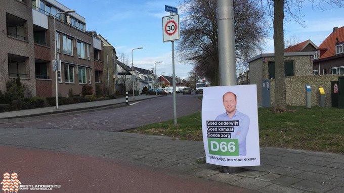 ADV; Onverantwoord gedrag D66 Westland met reclameborden https://t.co/52j4JNnStW https://t.co/cdWMnHb7iU