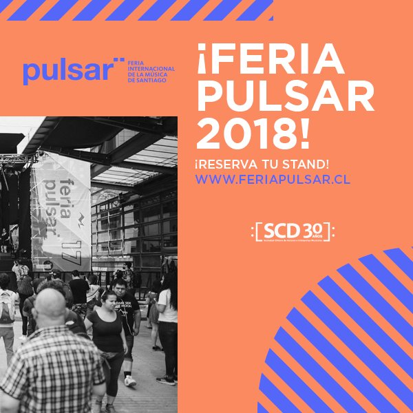 test Twitter Media - ¡Expone tu trabajo en #FeriaPulsar2018! Conoce los detalles en https://t.co/lxKVwPn6L6 y presenta tu sello, booking o colectivo en la feria más importante de la música chilena! https://t.co/723RiWJADH