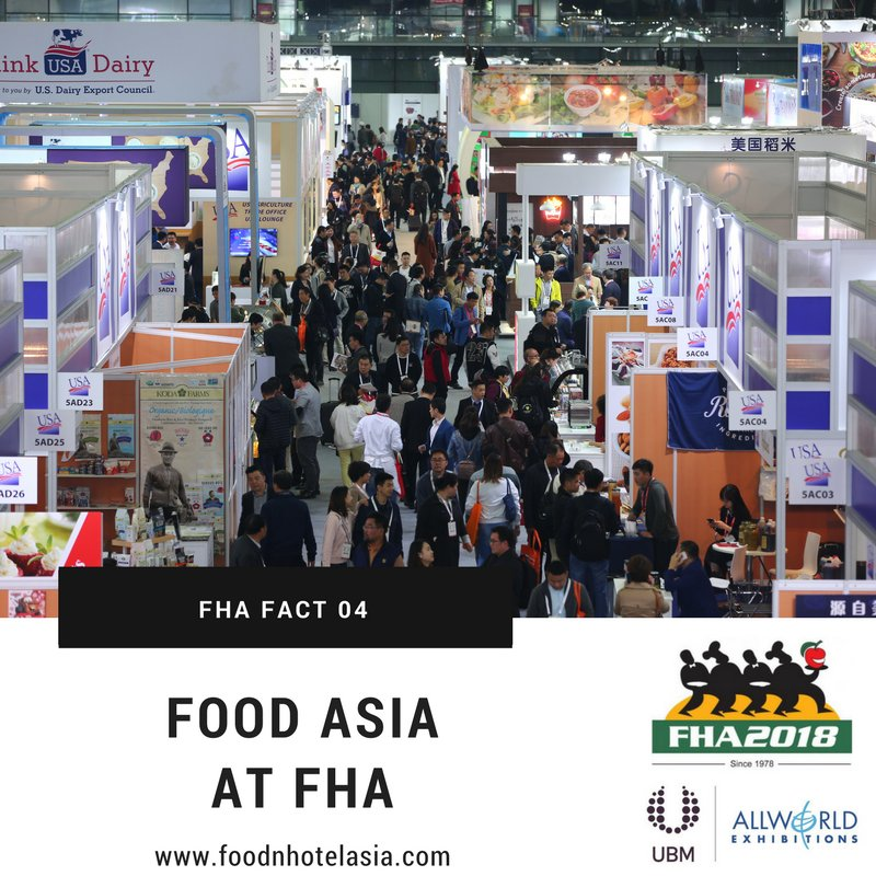 test Twitter Media - FHA fact 4: The Food & Drinks sector is an international food and beverage sourcing hub for trade buyers in Asia, featuring an extensive international variety of F&B products from 70 countries/regions! https://t.co/1cnspTeJeY  #FHA2018 #Export #Asia #tradeshow #FHAFunFacts https://t.co/whVnIXGP2n