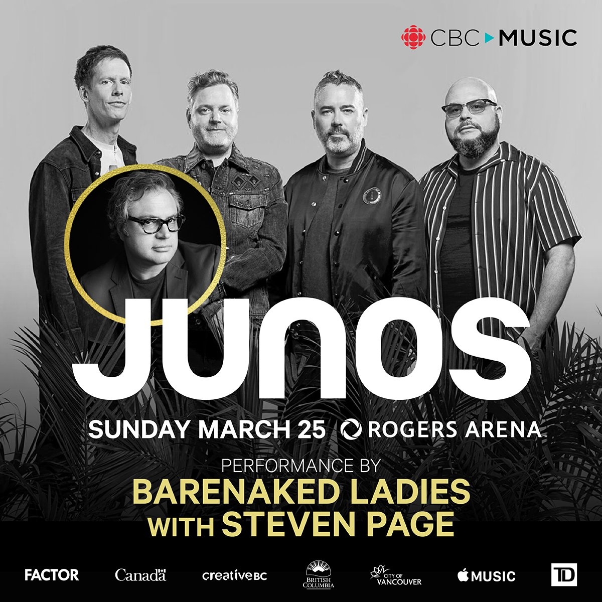 test Twitter Media - .@CANMusicHF inductees @barenakedladies with @StevenPage, @DianaKrall, @FelixCartal, @ShawnHook, @TheJerryCans WILL be performing LIVE at The 2018 @TheJUNOAwards in #Vancouver on March 25th! #JUNOS 🎫 Tickets are available now: https://t.co/051OHFs890 https://t.co/JbbagmQeI0