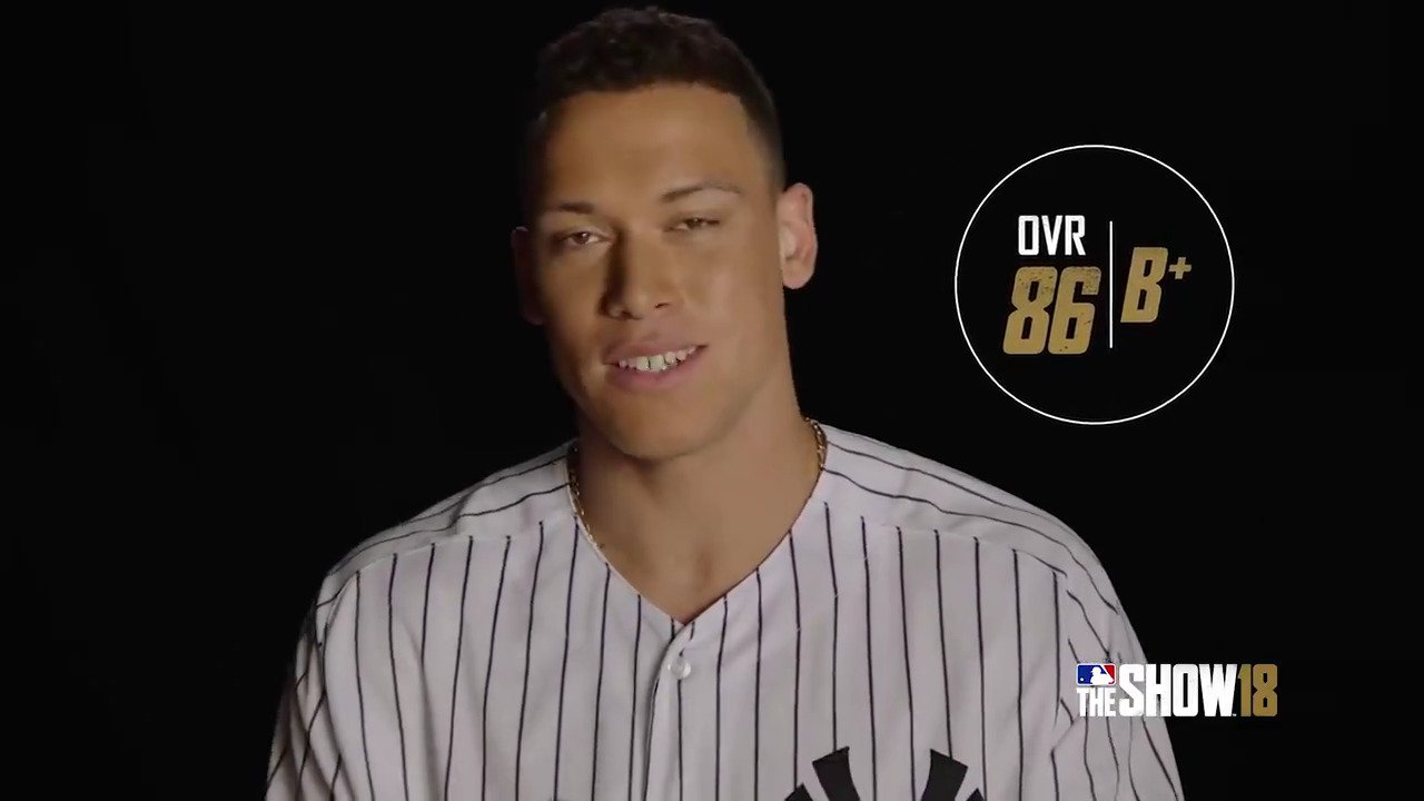 .@TheJudge44 got his #TheShow18 rating. What do you think?  Pre-order @MLBTheShow: https://t.co/wMDkVv8QQp https://t.co/fCwmIUfaFK