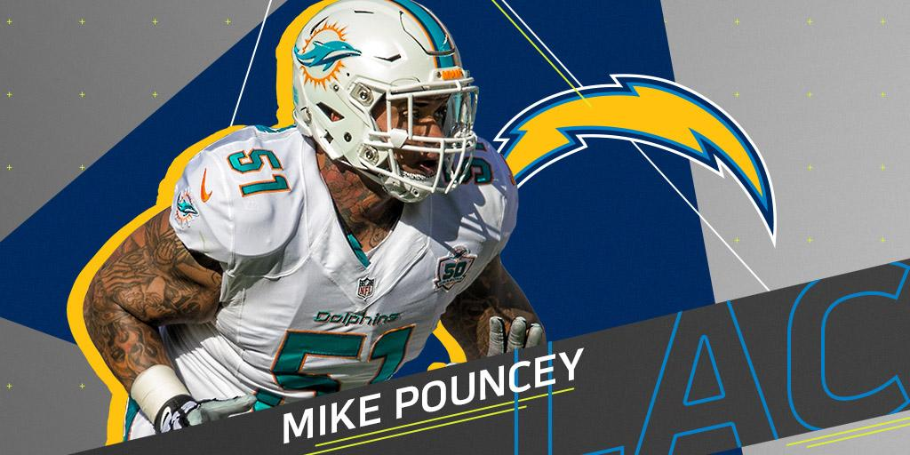 3-time Pro Bowl center Mike Pouncey agrees to two-year deal with @Chargers: https://t.co/1oArlBiATQ https://t.co/mtxfpOkBuX
