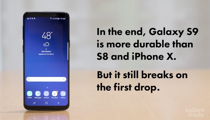 Galaxy S9 and S9+ Beat iPhone X in Drop Tests, But Still Suffer Severe Damage