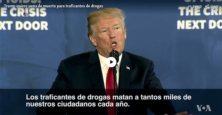 test Twitter Media - Trump: Cero tolerancia que incluya pena de muerte para traficantes de drogas https://t.co/3MNqOmNfFd https://t.co/oXBKH1esUZ