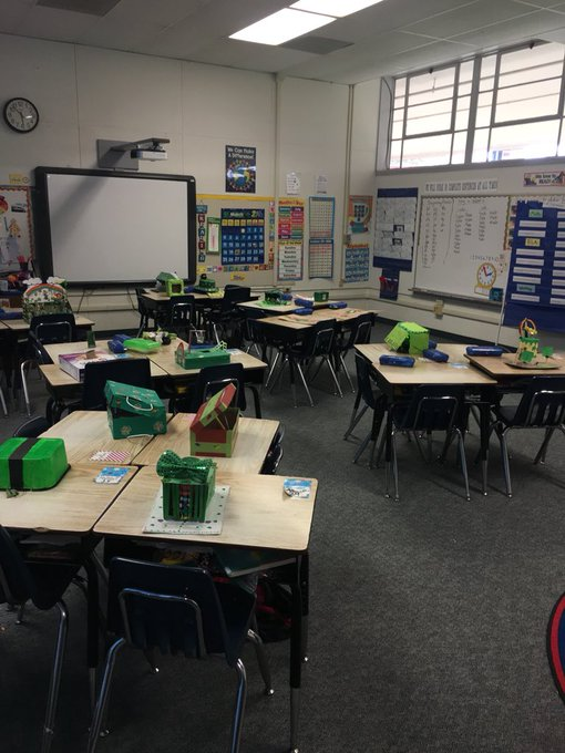 Creative STEAM 1st Grade Family Project of Leprechaun 🍀 Traps in Room 202 @HuronElementary https://t.co/nUWlmTfurv