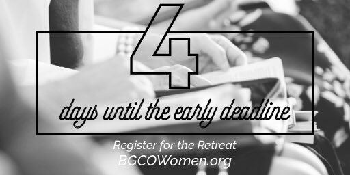 test Twitter Media - Register soon for the BGCO Women's Retreat! The price goes up on Saturday.   https://t.co/dRnzyi323Z https://t.co/L6uO1JpROA