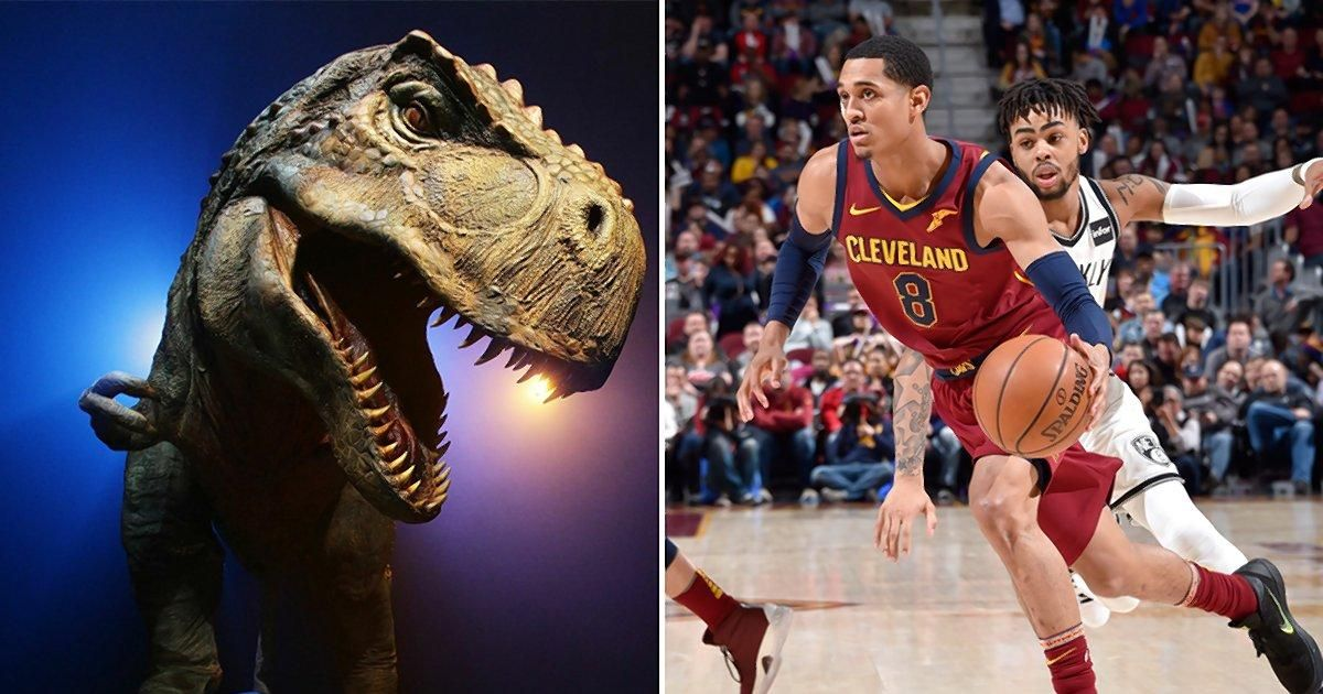 Cavaliers guard Jordan Clarkson believes humans used to be giants who had dinosaurs as pets https://t.co/kwIYlFC4VY https://t.co/SYQsdAZOB7