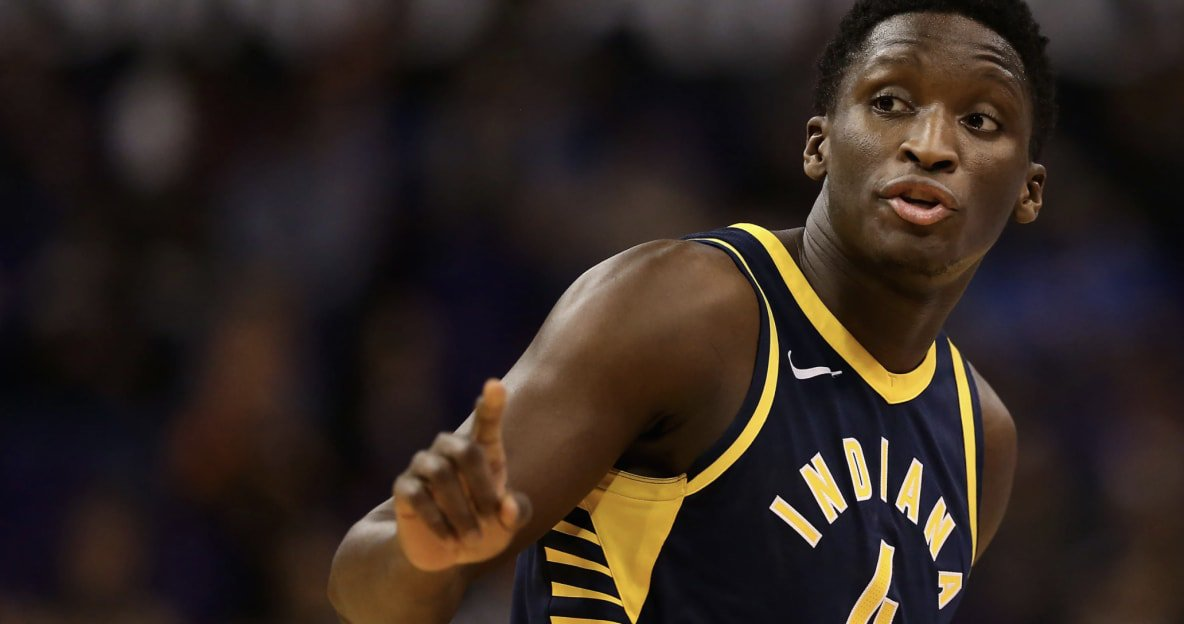 Victor Oladipo throws down a vicious one-handed dunk for the Indiana Pacers