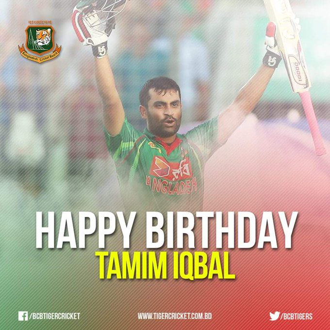 We wish a very happy birthday to our own Tamim Iqbal. Many Many happy returns of the day.