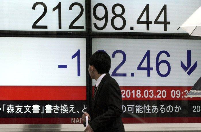 @BroadcastImagem: Bolsas asiáticas fecham sem direção única, após queda em NY e à espera do Fed. Eugene Hoshiko/AP
