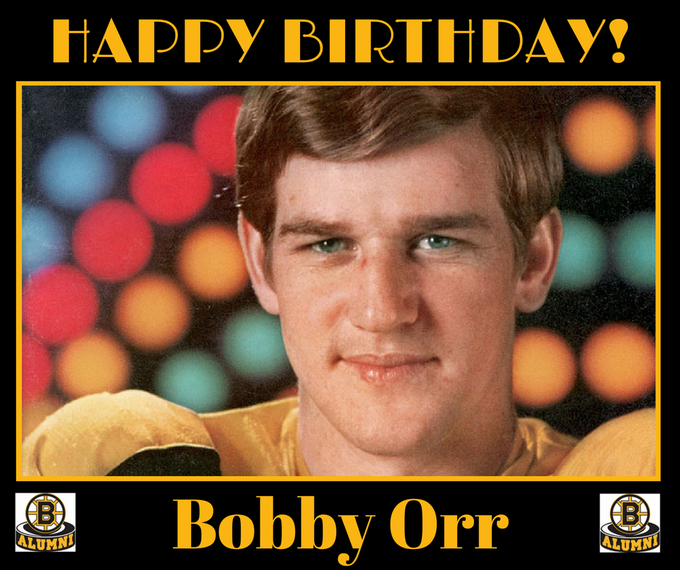Happy Birthday to D Bobby Orr, who turns a very young 70 today.