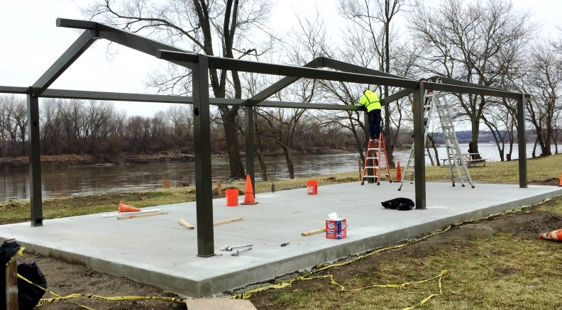 test Twitter Media - Progress continues this week on the new Riverview Shelter @parkvillemo #PlatteLandingPark https://t.co/8tFpDmmjAQ