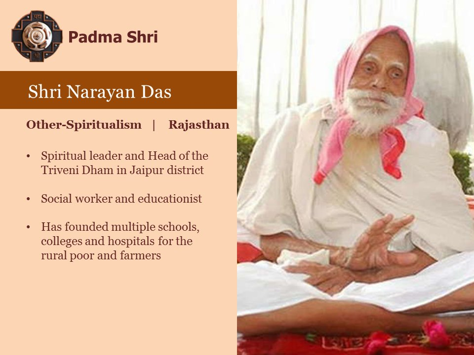 Taking education to the rural poor and farmers. #PeoplesPadma https://t.co/uVu8oYQSka