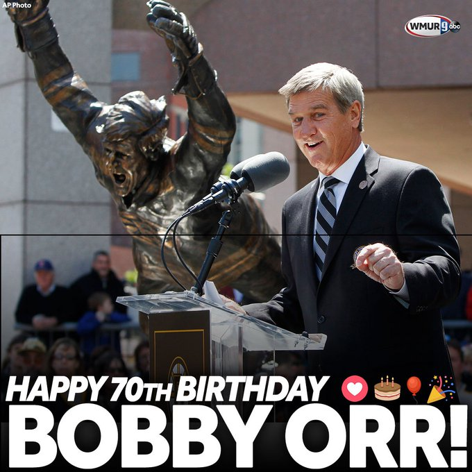 Happy 70th Birthday to this legend: No. 4, Bobby Orr!