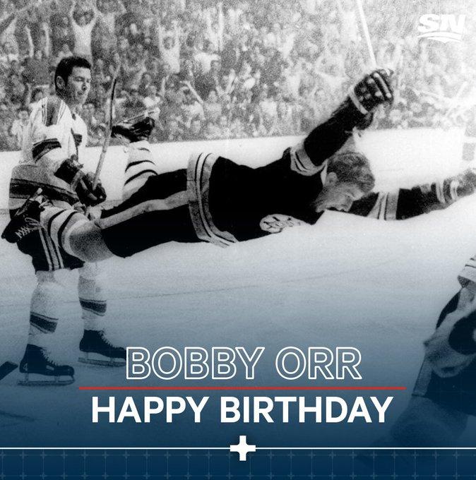 Happy 7  0  th birthday to the legendary Bobby Orr!