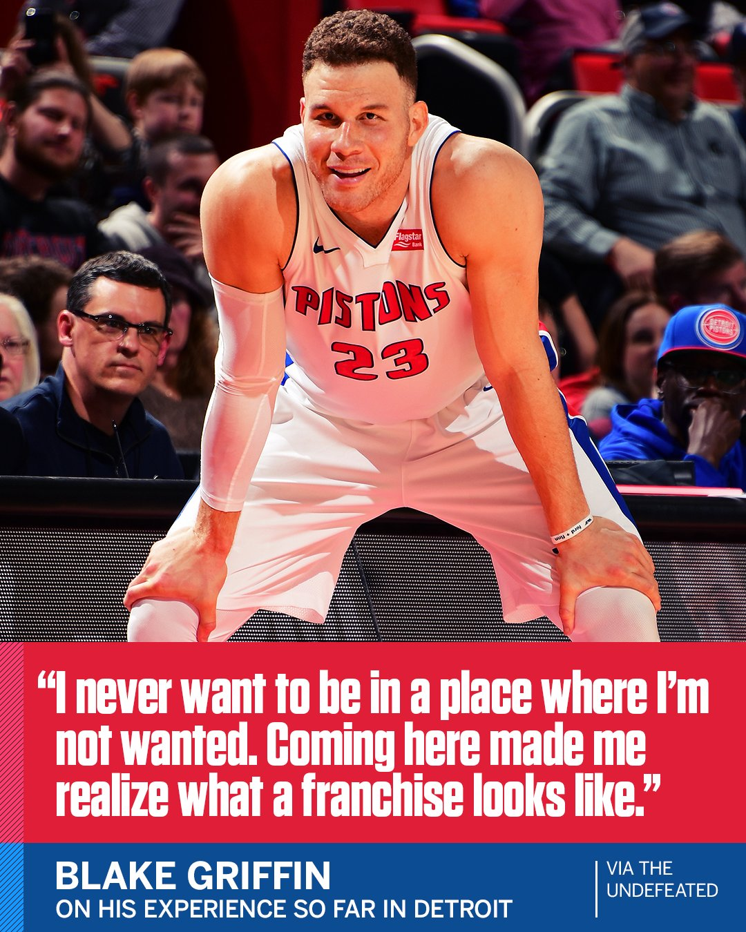 Blake Griffin feels at home with the @DetroitPistons. (via @MarcJSpearsESPN) https://t.co/GTEjaZBODB