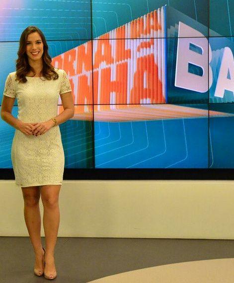 Contrata. Foto do site da BN Holofote que mostra Após ida de Jéssica Senra para Rede Bahia, Record contrata Jéssica Smetak