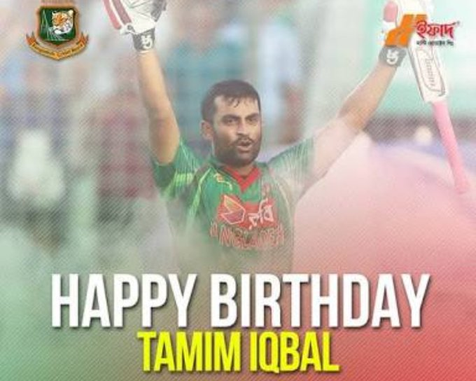 Tamim Iqbal  best of luck for today\s Match nd all upcoming matches.   from