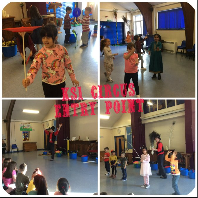 KS1 had a fun day learning lots of circus skills. A great way to start their IPC Circus unit! 🤡 https://t.co/XWbavx0QjF