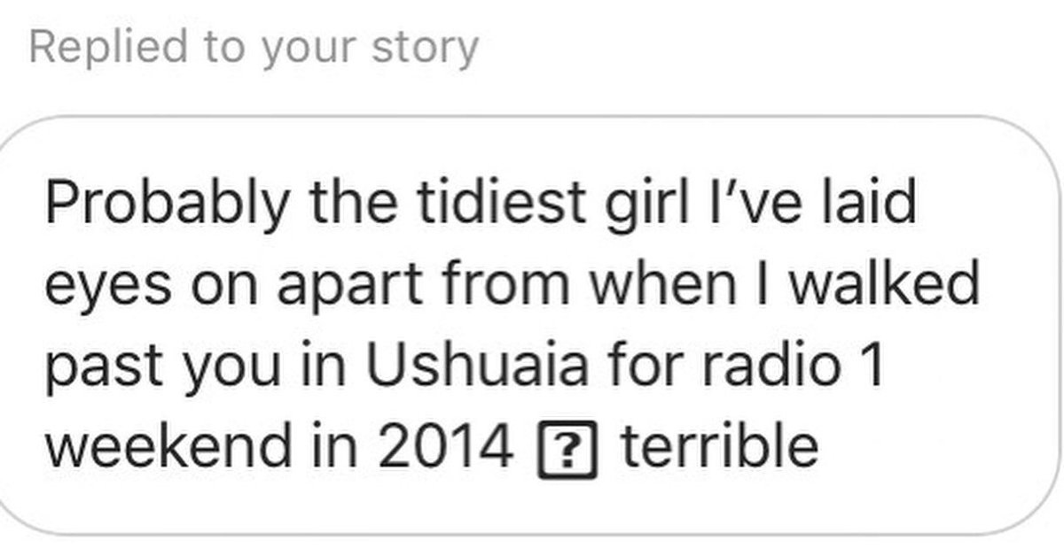 Just going through my Instagram inbox. Sounds about right.. MJEEcQineu