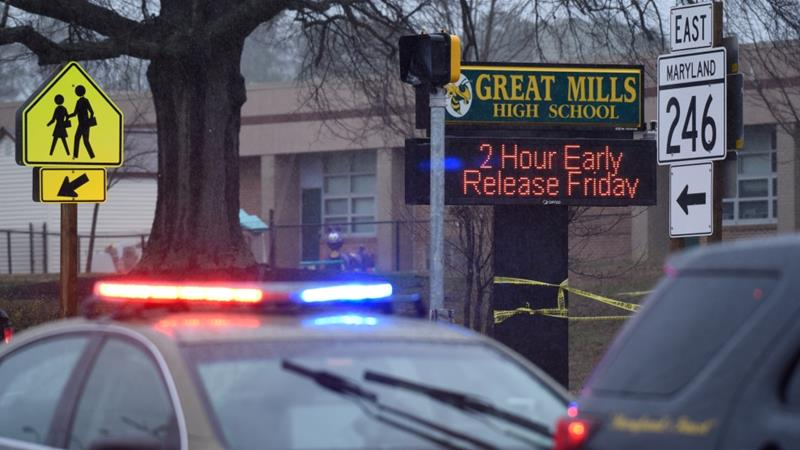 Shooting erupts at Great Mills High School in Maryland