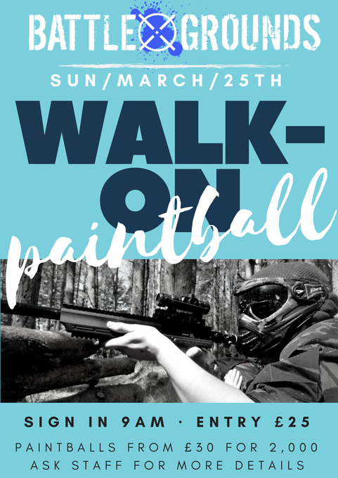 Image for Fancy shooting your mates for fun?! Why not come along to our monthly walk-on event and shoot some paintballs with them (or at them!). #greatvalue #paintball at it's finest all in #royaldeeside just five minutes from #Banchory. Ready to play? https://t.co