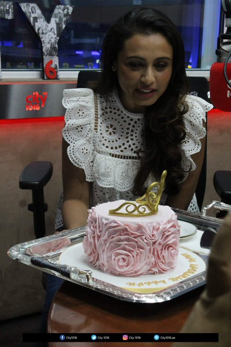 Birthday Girl Rani Mukerji With Her Birthday Cake! How Happy She Looks  .