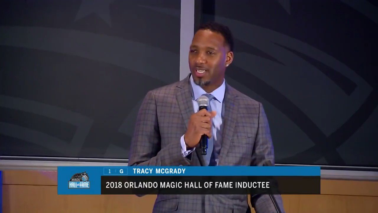 Tracy McGrady discusses his induction into the @OrlandoMagic Hall of Fame! #PureMagic https://t.co/aPeiJITf9v