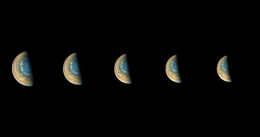 Meanwhile, in space, Jupiter's South Pole looks great and Mars is a dust heap https://t.co/jq4Pl2PrMH https://t.co/W6L866iNE6