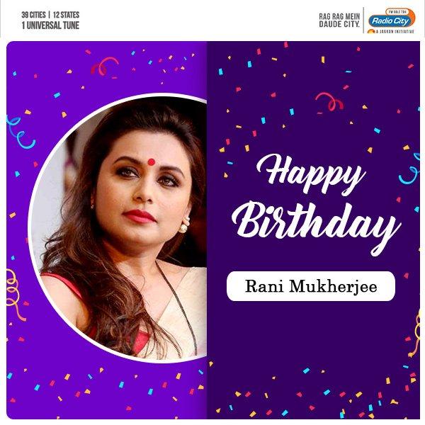 Wishing the gorgeous Rani Mukerji a very Happy Birthday!