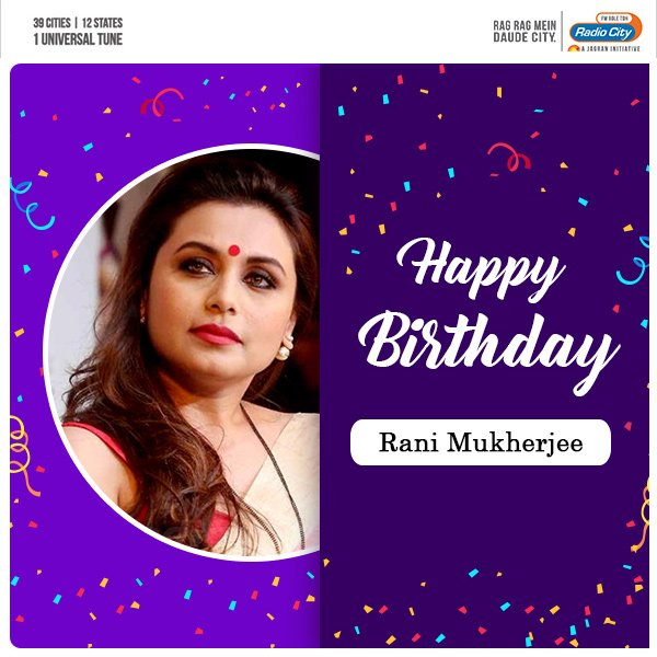 Wishing the gorgeous Rani Mukerji a very Happy Birthday!