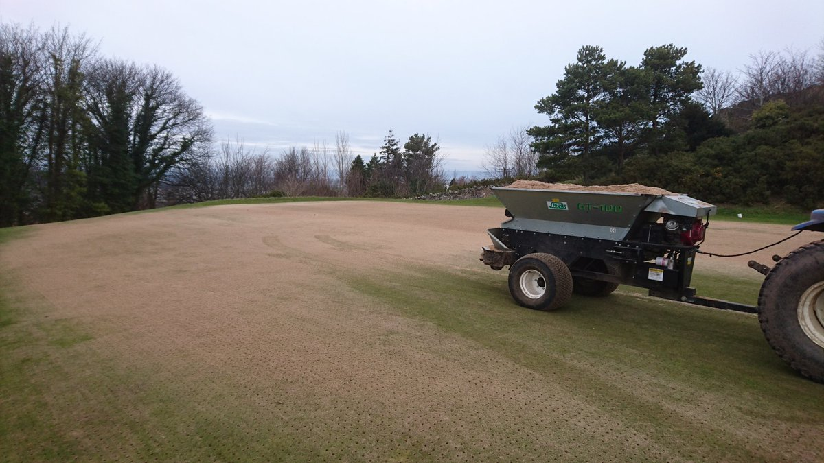 test Twitter Media - The Aeration, Coring and Top Dressing work has resumed today after a few days lost to snow cover. Hopefully get all the greens cored and verti drained before the weekend. https://t.co/joOLAXLOCg