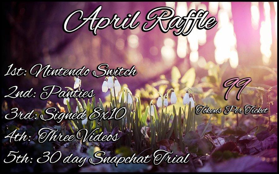 April Raffle starts tonight!! JTVcHzIy4t mJVR0RIzCt