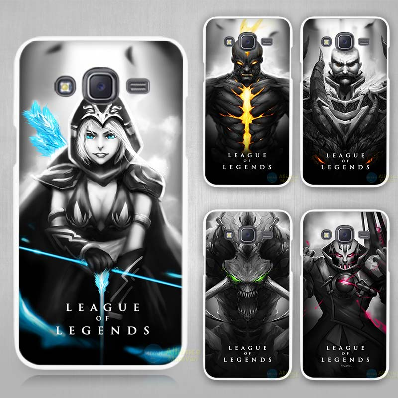 #LoL League of Legends dark White Case Cover for Samsung Galaxy J1 J2 J3 J5 J...