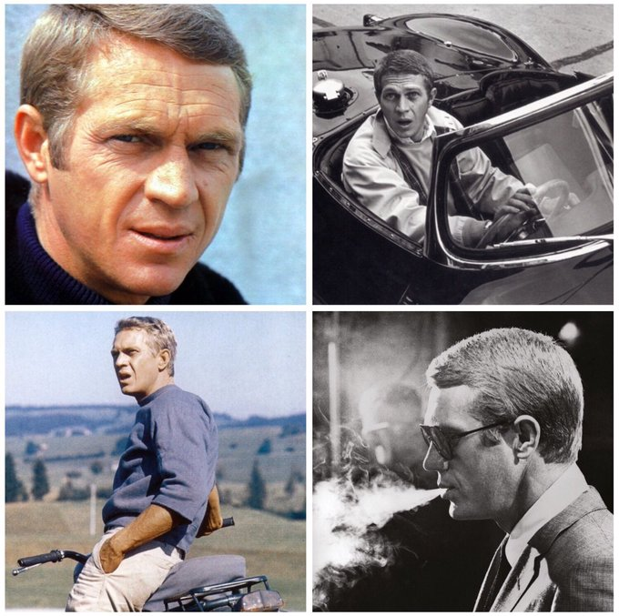 Happy birthday to American screen icon, Steve McQueen (1930-1980).
