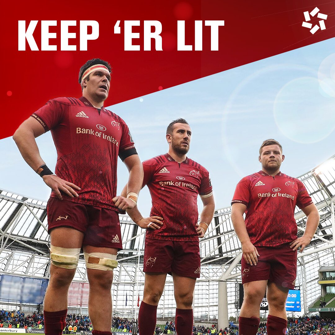 PRO14 action is back to Thomond Park and the lads know what they need to do💪🏽 #LiveMunster #MUNvSCA #ProudlyIrish https://t.co/gJCE2XLc3n