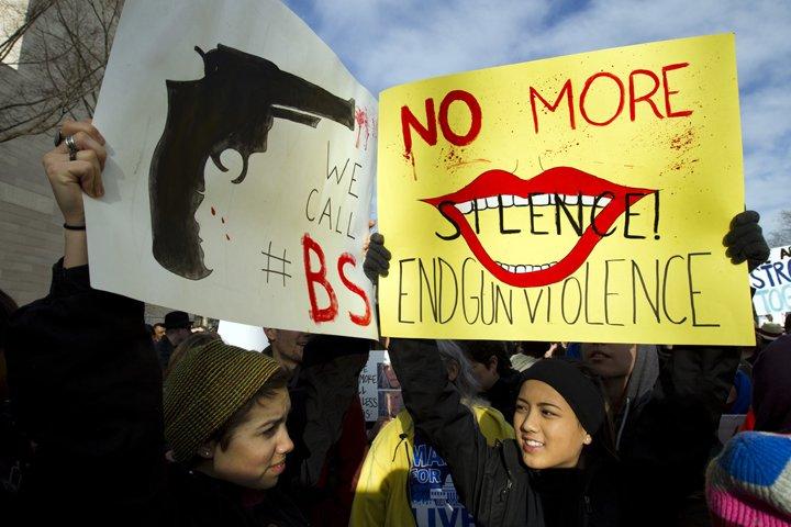 @BroadcastImagem: Estudantes dos EUA se mobilizam em 800 cidades em marcha contra armas. Jose Luis Magana/AP