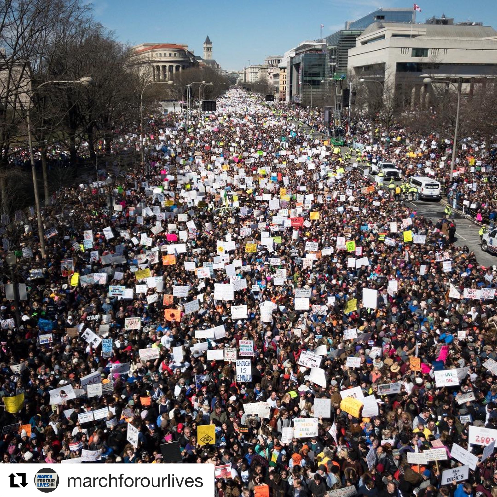 Humbled and proud of this generation taking the lead. Their time is now. #MarchForOurLives https://t.co/6WpG7AxMKK