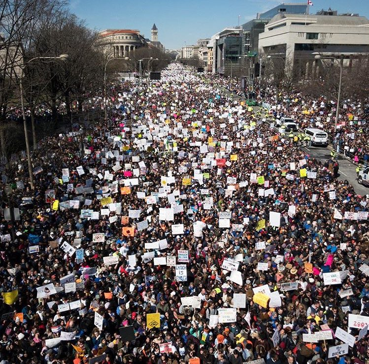 This next young generation will change the world. So grateful for your courage. ❤️❤️❤️ #marchforourlives #notonemore https://t.co/uRnx8I8My5