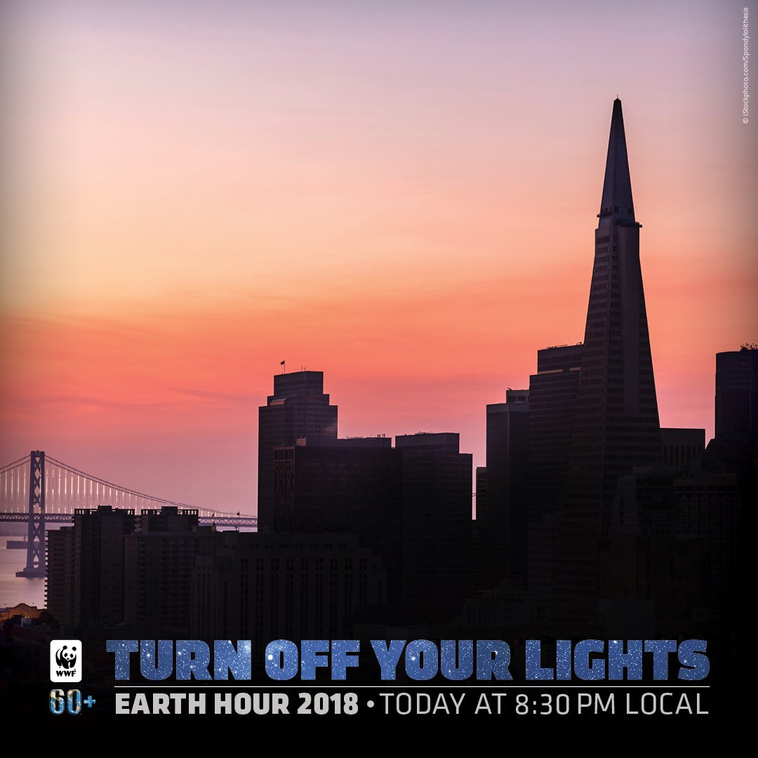 RT @World_Wildlife: People on the West Coast are turning off their lights for #EarthHour! https://t.co/rrtkswbNd8