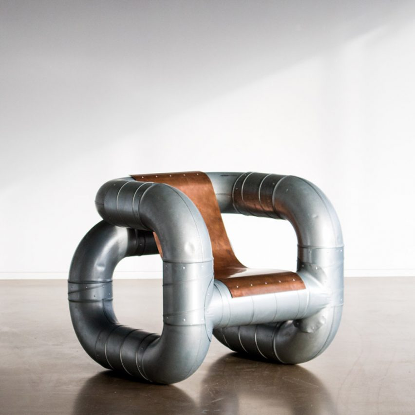 Lucas Muñoz creates Tubular furniture from ventilation pipes and scrap metal https://t.co/hVvHJcurTI https://t.co/gpSX260oxM