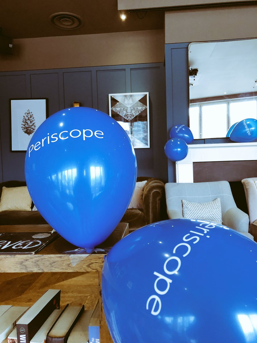 Look what we have here! #Periscope balloons at the #YearThree meetup at @CoppaClub