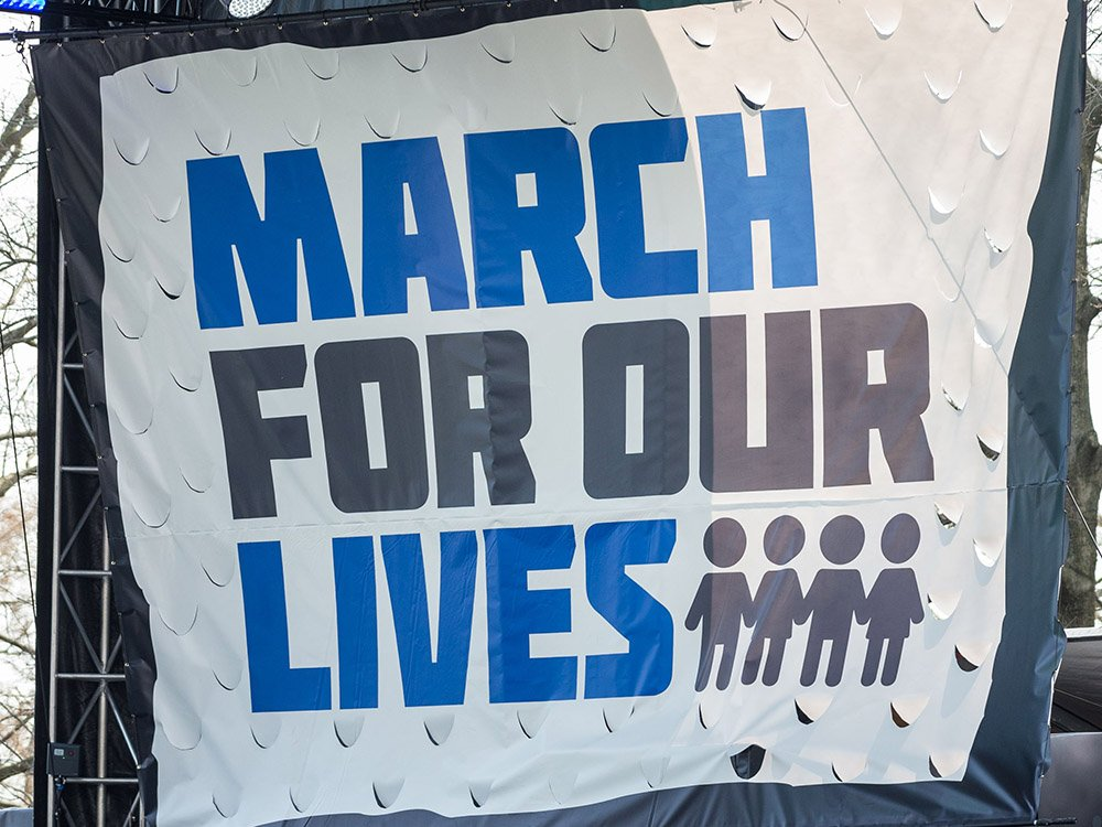Kim Kardashian And Other Celebrities Supported The March For Our Lives