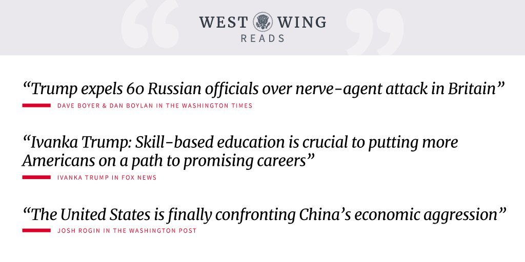 Tonight's edition of West Wing Reads: https://t.co/SXS5x6610Z https://t.co/sAXmwBUT7u